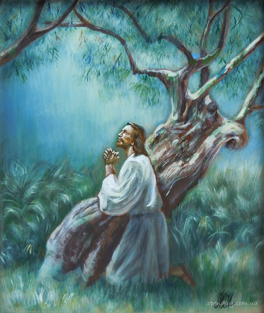 христос и олива